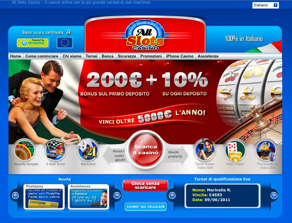 All slot online casino
